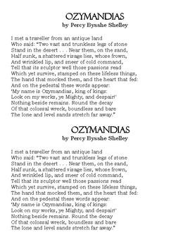 Ozymandias Poem handout