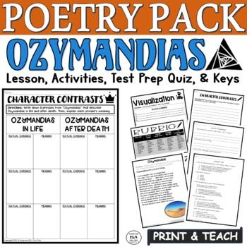 Ozymandias by Shelley: CC Poetry Lesson Test Prep Lesson, Quiz, Activities