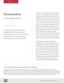 Ozymandias: Theme Revealed Through Characterization