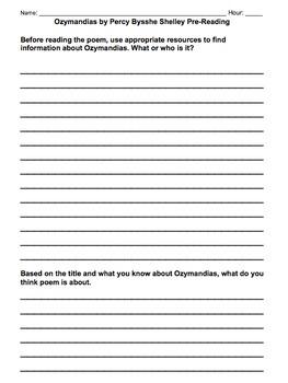 Ozymandias by Percy Bysshe Shelley Poem: lesson, analysis, & writing