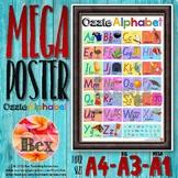 Ozzie Alphabet Mega Poster