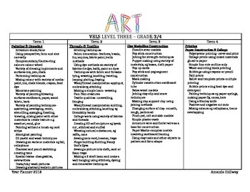 P-6 Visual Art Year Planner