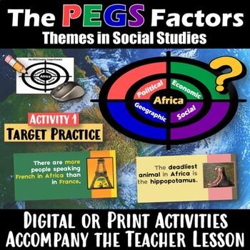 Africa PEGS Activity & Handout (Political,Economic,Geographic,Social)