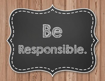 """P.B.I.S. Posters - 12 """"Be"""" Posters for Character Education - Farmhouse Style"""