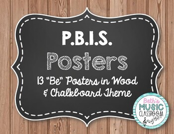 "P.B.I.S. Posters - 12 ""Be"" Posters for Character Education - Farmhouse Style"