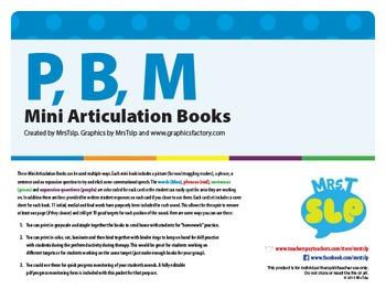 P, B, M Mini Articulation Books
