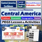 Mexico, Central America & Caribbean - ~ P.E.G.S. Practice Lesson & Worksheet ~