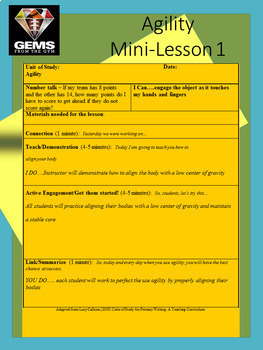 Physical Education Agility Resource: Mini Lesson Bundle!