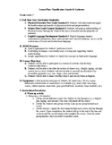 P.E. Cardiovascular Fitness Lesson Plan for ELLs and Classifying Objects