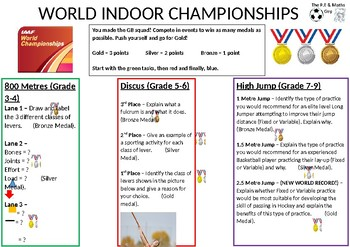 P.E Differentiated Task - Indoor World Championships - Levers