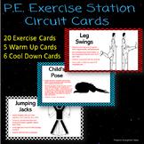 P.E. Exercise Activity Cards (Circuit)