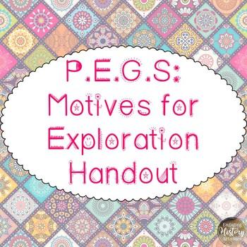 P.E.G.S - Motives for Exploration