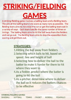 P.E. Game Sense Wall Posters for Grades 3 - 6 (Free - and 100% Editable)