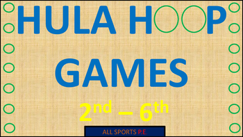 P.E. HULA HOOP GAMES