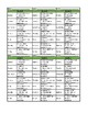 P.E. Homework Sheets for Middle School
