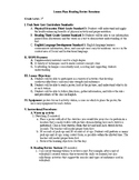 P.E. Lesson Plan for any Unit Review, Promotes Literacy