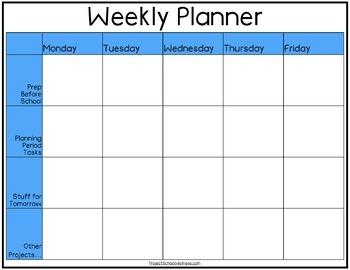 P.E. Lesson Planner (PE, Health, Freebie)