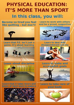 P.E. Poster - Physical Education is More than Sport (FREE)