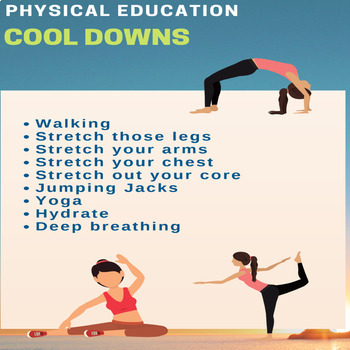 P.E. Posters - Physical Education 7 Poster Bundle