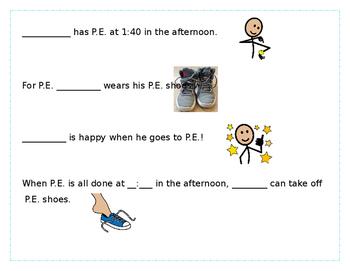 P.E. Shoes Social Story