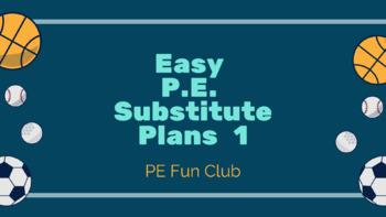 P.E. Substitute Lesson Plans & Checklist