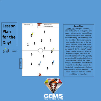 P.E. Substitute Teacher Plans/Folder with Fun Game!