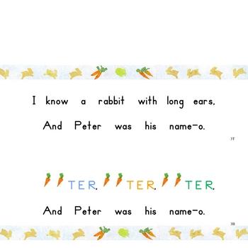P-E-T-E-R Rabbit Interactive Book, Printable in Full Color!