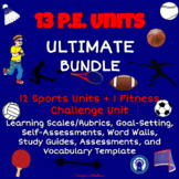 Printable P.E. Units Bundle with 13  Assessments, Study Gu