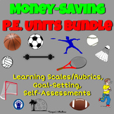 P.E. Units Goal-Setting and Self-Assessments Bundle
