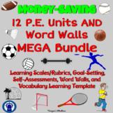 P.E. Units MEGA Bundle Goal-Setting and Assessments Plus V