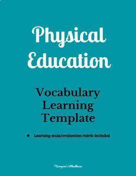 P.E. Units Vocabulary Word Walls Bundle