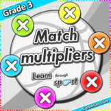 P.E game with multiplication task cards - Learn Math throu
