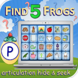 P Find 5 Frogs - Articulation Activity - Teletherapy - Dig