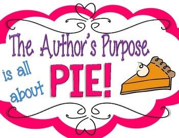 P.I.E! - Author's Purpose Anchor Chart