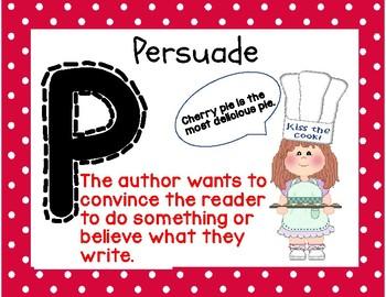 P I E Author's Purpose Anchor Charts