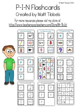 P - I - N Flash Cards for Memory or Sorting