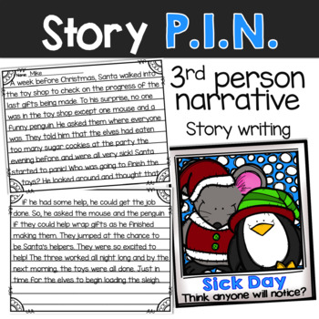 P.I.N. WINTER FRIENDS: Narrative Writing with Picture Prompts