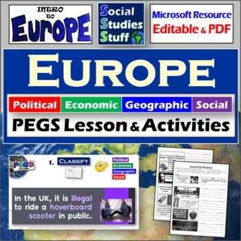 Italy / Europe PEGS Activity & Handout (Political,Economic