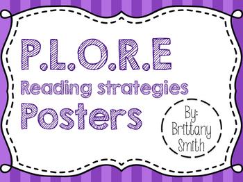 P.L.O.R.E. Reading Strategies Poster