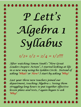 P Lett's Algebra 1 Syllabus Template