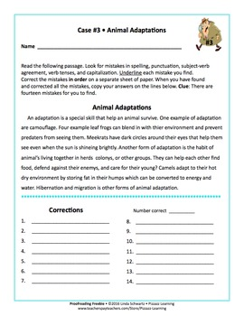 PROOFREADING FREEBIE   • GRADES 4–6