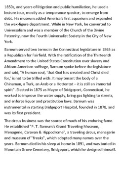P. T. Barnum Handout