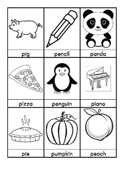 P. Words beginning with P flashcards