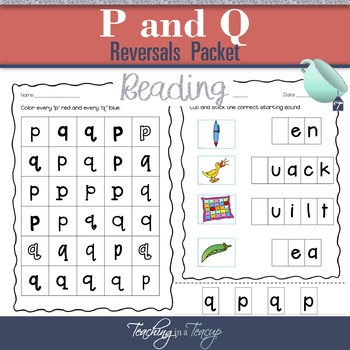 P and Q Letter Reversals Pack