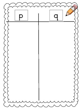 P and Q letter reversal bundle activities