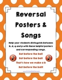 Letter Reversal Posters for b, d, p and q