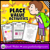 Place Value Activities, Worksheets and Game