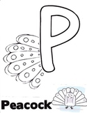 P is for Peacock