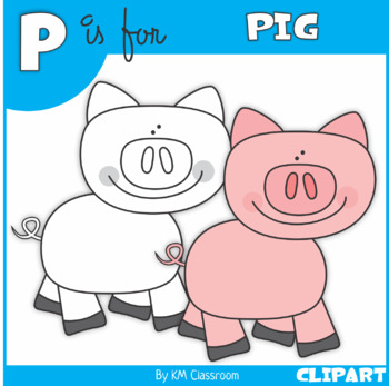 P is for Pig Clip Art
