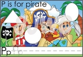 P is for Pirate File Folder Game